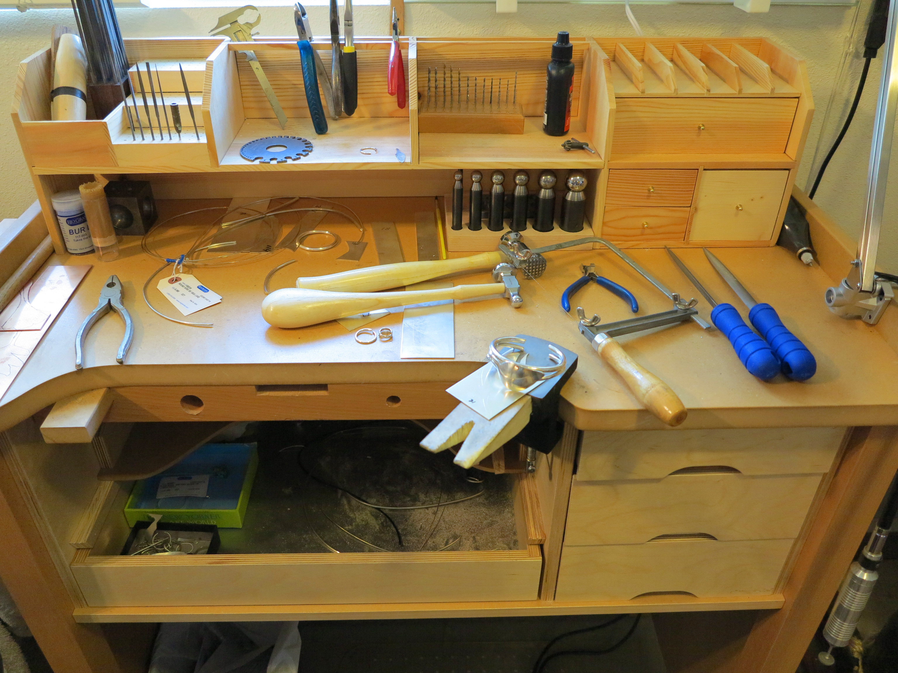Woodworking Tables Jewelry Makers Workbench Plans How To